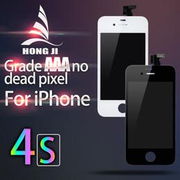 Iphone 4s conjunto completo en Línea-Alta calidad Ninguna colección muerta del sistema del marco del digitizador de la exhibición del LCD del pixel AAA +++ de la pantalla táctil del reemplazo para el iPhone 4S