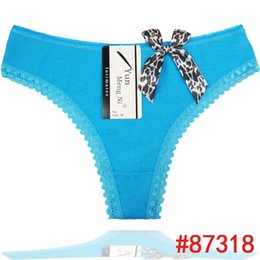 Sexy Lepoard Bow Ladies Briefs Comfortable Lace Trim G-string Breathable Cotton Thongs,Preteen Underwear Breathable Cotton Ladies Panty