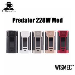 Authentic Wismec Predator 228W Box Mod 18650 Battery TC Box Mod Serve As a Power Bank For Other Electronic Devices VS SMOK Alien