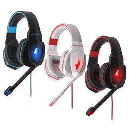 Canada CHAQUE G4000 Casque d'écoute professionnel stéréo Jeux haute performance Casque avec microphone Stereo Bass LED Light pour PC Gamer professional game headset on sale Offre