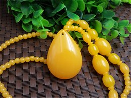 Beautiful Chinese Natural Handcraft Beeswax engraving Beautiful flowers Necklaces gd4239