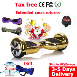 Wholesale UK DE stock wheel hoverboard bluetooth self balancing electric scooter hover board skateboard bags as gift fast shipping to UK and Europe