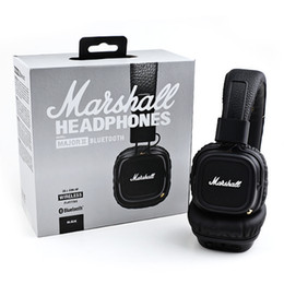 Wholesale Marshall Major II Bluetooth Wireless Headphones in Black DJ Studio beat Headphones Deep Bass Noise Isolating headset for iphone Samsung