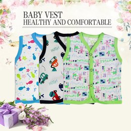 Wholesale piece Various patterns Summer baby dress underwear cotton underwear men and women baby sweat vest Underwear free shopping