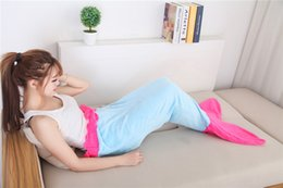 Wholesale ebay hot sale Mermaid Tail Wrap Soft Fleece Blanket kids Bed snuggle in Sleeping Bag Cocoon Costume A111438 for sales colors