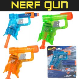 Wholesale nerf gun Hasbro toys Nerf N Strike Shot Jolt Blasters Colors Soft bullet gun pistol outdoor toy Foam Darts bullet Toys Zorn