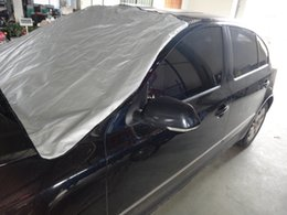 Wholesale New x cm Car Windscreen Cover Magnetic Aluminum Film Anti Snow Frost Ice Polyester Window Mirror Protector for Winter