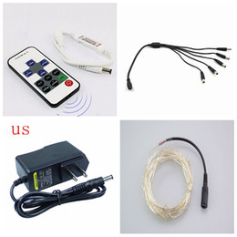 Wholesale 5 m Led Copper Light DC connector Supplier Controller Silver Wire M DC V Fairy Christmas Decoration Outdoor Indoor Decoration