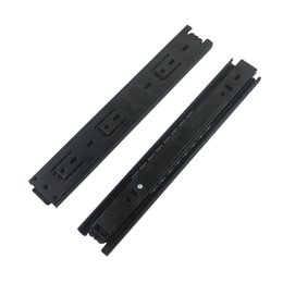 Compra Online Bolas de rodamiento-2pcs 8-15inch largo cajón diapositivas corredor de 40 mm de ancho negro laminado en frío de rodamiento de bolas de acero rodamiento de rodillos para el armario de cajones