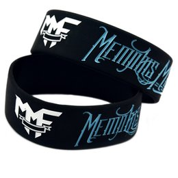 50PCS Lot Memphis May Fire Silicone Bracelet Wear This Latex-Free Wristband To Support The One You Love