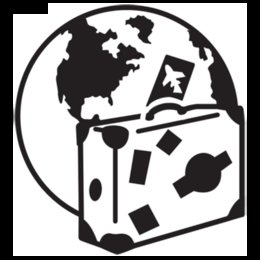 Suitcase and Globe Graphic Vinyl Decal Sticker Car Truck Window