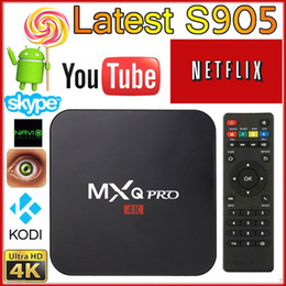 Totalmente cargado MXQ PRO Android 6.0 TV Box S905x Quad Core 1G / 8GB / 4K Wifi HDMI 003 (luz LED) desde las luces de carga fabricantes
