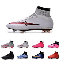 Altos tops hombres 45 en Línea-[Con Box] Hombres de fútbol tiras Niños Superfly CR7 FG Botas de Fútbol Hombre Alto Top Zapatos de fútbol de césped interior Mujeres Chicas Al aire libre Cierre 39-45