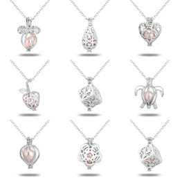 Love necklace en Ligne-Wholeasle (y compris la chaîne) 18kgp Fashion Love Wish Perle / perles Locket Pendentifs Bijoux en perles Pendentifs Pendentifs Pendentifs Supports