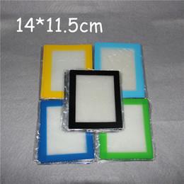 Ensembles de batterie à vendre-100pcs Silicone Wax Kit Set plaques carrées plaques tapis tambour tambour 26ml conteneurs huile de silicium dabber outil pour les jarres d'herbes sèches dab