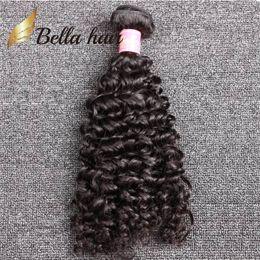 Bella Hair® 8A 100% Unprocessed Brazilian Curly Hair 1pc lot Curly Weave Cheap Curly Brazilian Hair Free Shipping Bella Hair retail 1 bundle