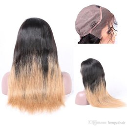 Beauty Hand Tied Ombre Color Lace Front Wig For Women Brazilian Remy Human Hair Natural Hairline With Baby Hair Free Shipping