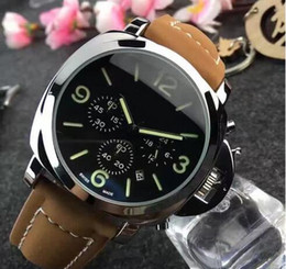 Wholesale Hot fashion Casual Sport watch men Quartz Watches Men s leather Wristwatches Clock Relogio Super gift for men