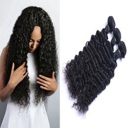 3pcs Brazilian Hair Extensions Malaysian Human Virgin Hair Weaves Deep Wave Natural Color Can Be Washed No Tangle Free Shipping