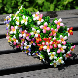 Artificial flowers wholesale plastic flower simulation grass single lucky Milan hastily gardening decoration engineering