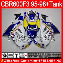 8 Gifts 23 Colors For HONDA CBR600F3 95 96 97 98 CBR600RR FS 2HM20 Rothmans Blue CBR600 F3 600F3 CBR 600 F3 1995 1996 1997 1998 blue Fairing