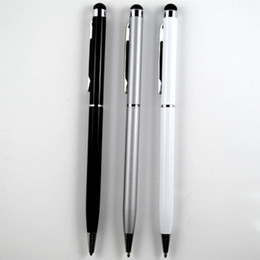 2in1 Capacitive Touch Ball Point Pen with clip Stylus with Ball Point Pen for all Phone three color universal