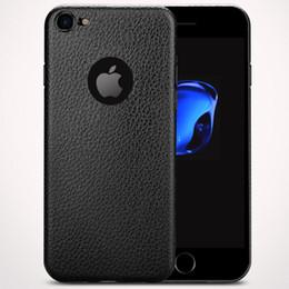 Nuevo para el iphone 7 6S más el teléfono celular de lujo delgado de la caja ultrafina delgada encajona la textura suave del cuero del silicón de TPU con los paquetes al por menor desde teléfonos celulares casos de cuero proveedores
