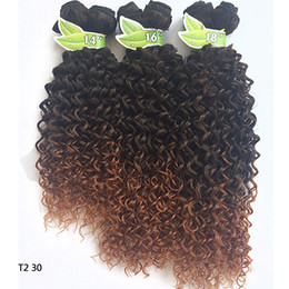 Wholesale Fashionkey Black Friday Sexy Black Women Deep Wave noir et foncé brun clair Deep Wave Bundles Fast Shipping Hair Weave Bundles wz165