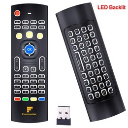 Wholesale Air mouse G Backlit Mini Wireless Keyboard infrared Remote Control With Gyro and Gsensor Best for Android tv box HTPC IPTV PC