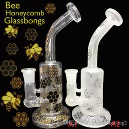 Nid d'abeille recycleur en Ligne-2017 NOUVEAU 8 bongs en verre de style bong en verre de verre Mobius Faberge Oeufs illadelph Water Pipes recycler plate-forme pétrolière dab rigs honeycomb pecr