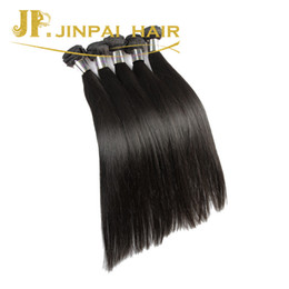 coupe de cheveux pour fille Promotion JP Hair 3 Pieces Silky Straight Virgin Brazillian Hair Extensions Cut From Young Girl Cheveux humains
