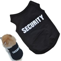 Wholesale 2016 Newly Design SECURITY Black Dog Vest Summer Pets Dogs Cotton Clothes Shirts Apparel Ropa para perros Free Shippng