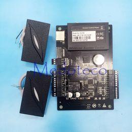 2016 радиочастотная идентификация панель доступа Оптово-One двери Двусторонний управления доступом панель + 2 PC мини 125KHz RFID считыватель Система контроля доступа C3-100 скидка радиочастотная идентификация панель доступа