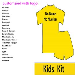 2017 2018 customized kids soccer jerseys baby football shirts with shorts any teams Camisetas De Futbol football kits for kids uniforms s