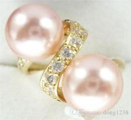 Jade crystal pearl ring free shipping > Noblest Silver Pink Shell Pearl Ring Size 7 8 9