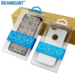 Retail Custom Company Logo Hard PVC Transparent Plastic Packaging Box for iphone 7 7 plus for Samsung s8 plus Case with Inner Tray
