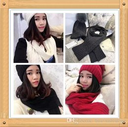 Wholesale A00 New arrived MO LER brand the original single hat scarf suit wool pure fox fur ball high grade metal hardware logo