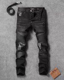 2017Men's Distressed Ripped Skinny Jeans Slim Mens Denim Pants Fashion Designer Mens Jeans Hip Hop Casual Men Jeans
