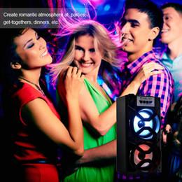 Boîte de haut-parleur de radio à vendre-Big Sound Haut-parleur HiFi Haut-parleurs portables Bluetooth Haut-parleur sans fil subwoofer Outdoor Music Box Avec USB LED TF FM Radio