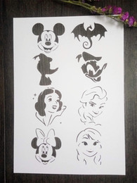 DIY white stencils children pattern design Masking template For Scrapbooking,cardmaking,painting,DIY cards-The cartoon characters 205