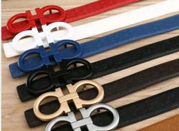 Cinturones de cuero en venta-El nuevo Mens de la manera cinturón de los hombres de cuero de los pantalones vaqueros cinturones para los hombres / las mujeres Metal la hebilla grande de la hebilla El diseñador de lujo ceñe los hombres