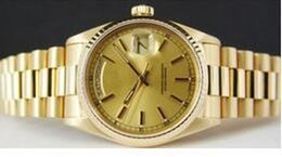 free shippng wholesale Mens 18k Gold President Champagne Automatic Luxury Mens Watch Wristwatch