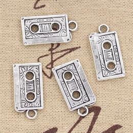 Wholesale Charms retro s cassette tape mm Antique pendant fit Vintage Tibetan Silver DIY for bracelet necklace