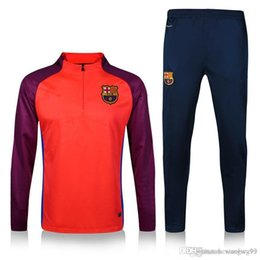 Wholesale The new Thai version of the high quality sweatshirts Barcelona jersey football training uniforms long sleeved football s