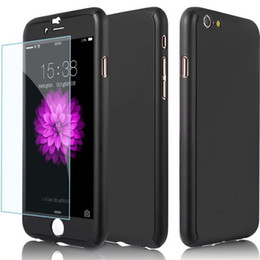 Wholesale Luxury 360 Degree Full Body Protection Cover For iPhone 5 6 6s With Tempered Glass For iPhone 7 7 Plus Capa Coque