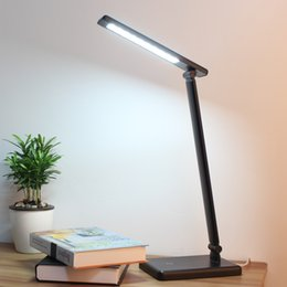 Led folding lamp eye protection lamp high-grade USB interface touch dimmer table lamp multi-angle adjustment work with LED lamps