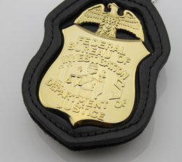 Replica police cop metal badge high quality federal bureau of investigation department of justice normal size