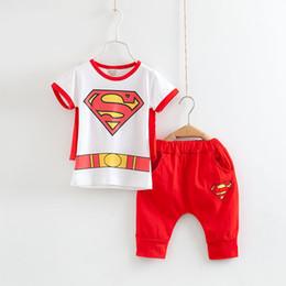 Promotion spiderman ensembles de vêtements d'été 2017 Spiderman Enfants Vêtements Set Bébés garçons à manches courtes Cartoon Pyjamas Ensembles Été Enfants Coton Pijamas Boy Poupées