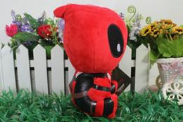 Descuento superhéroes juguetes de peluche Deadpool juguetes de peluche Super Héroe Maravilla Deadpool juguetes de peluche muñeca suave PP algodón 18 cm Deadpool muñecos de peluche muñecos Giftfree barco