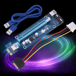 VER 006C USB3.0 1x to 16x Adapter Extender Riser Card Graphics Video SATA Power Cable PCI-E Express,6Pin Power for bitcoin btc mining miner